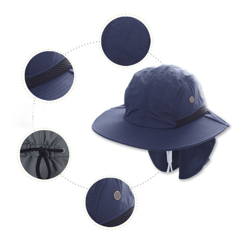 Material Polyester Size head circumference 55-63CM(Adjustable) Wide brim 8CM Ear  Neck Cover lenght 20CM e5cc2d6890f5