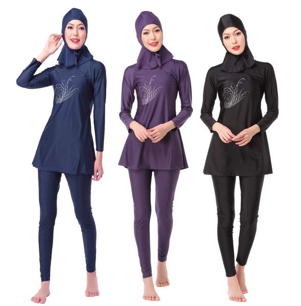 0c4ece5624e Women Swimsuit Set Ladies Burkini Muslim Swimwear Modest Islamic Bikini  Bathing Swimming Suit