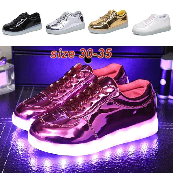 Usb 8 Colores Led Casuales Y Bajos Niños Baile Niñas Para Deportivos Carga De Lámpara Los Ayudar Zapatos A Lq4RcA35j