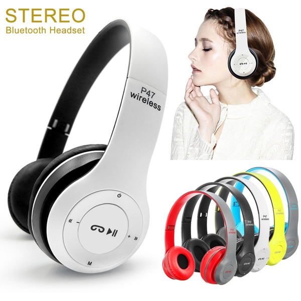 P47 Headband Bluetooth Headphones Wireless Headset Foldable Stereo