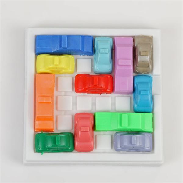 wish a kids toys car plastic traffic jam slide car brain teaser