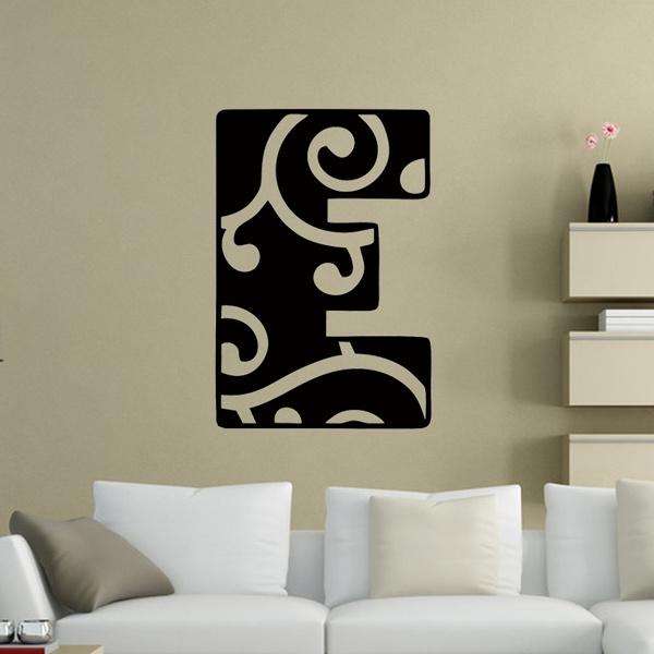 Choose Your Letter Monogram Vinyl Decal Wall Sticker Words Girl Teen Room Decor Art Culture Mural Diy