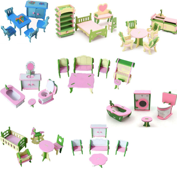 Mini, dollhousefurniture, Wooden, house