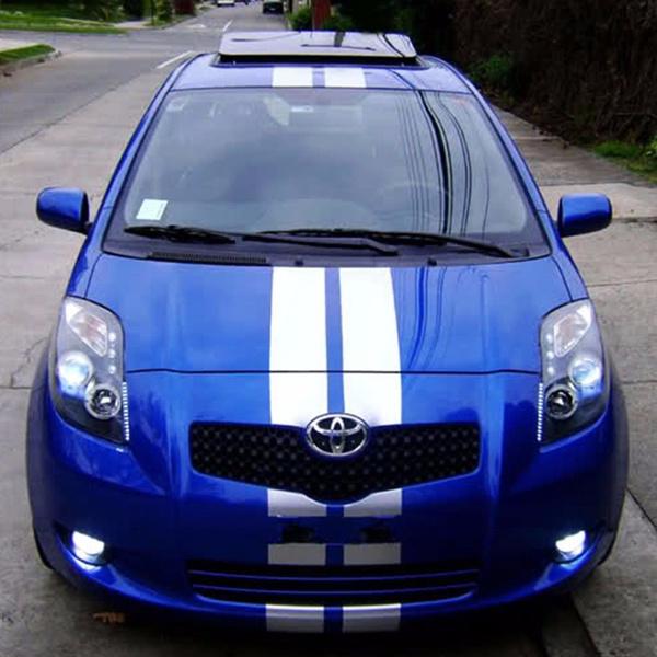 Stripe Body kit Sticker Decal Graphic for Toyota Yaris Vitz XP90 RS Wing Hood TS