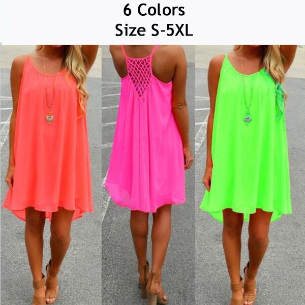 3ae46133 Sexy Women's Summer Casual Sleeveless Evening Party Beach Dress ...