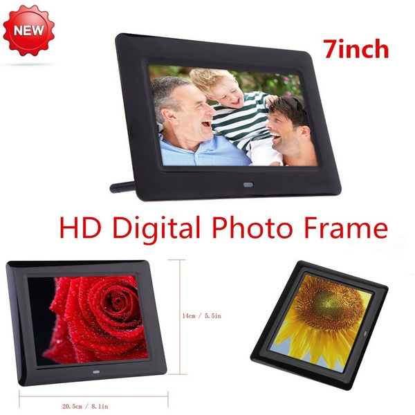 Wish | 7inch HD LCD Digital Photo Frame with Alarm Clock Slideshow ...