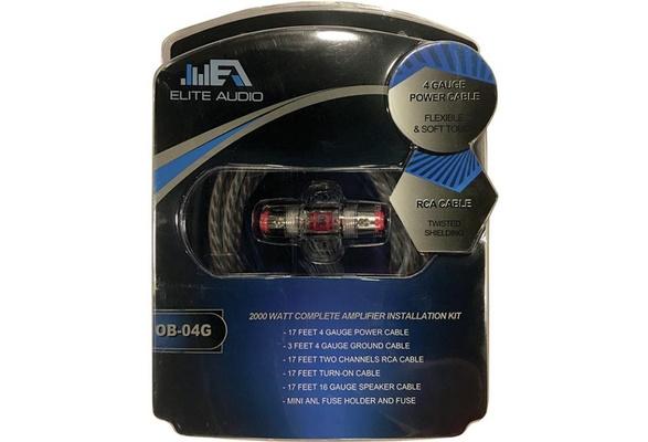 wish   elite audio accessories eaob04g 1000w blue 4 gauge amp kit