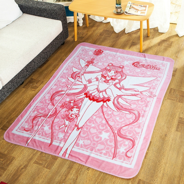 Anime Sailor Moon Blanket Kawaii Fleece Travel Blanket Home Office Throw On Sofa Summer Soft Airplane Carpet by Wish