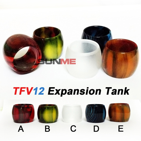 SUNME Epoxy Resin Expansion Tanks for TFV12 Cloud Beast King Replacement  Bubble Glass Tube