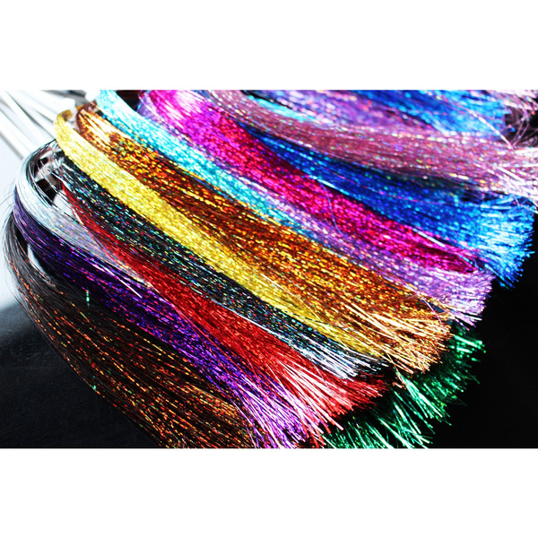 Red   Holographic  Flashabou  Fly Tying Material