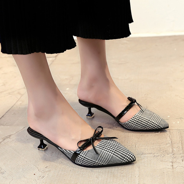 b3227e842335 New Summer Cool Slippers Sexy Ladies Kitten Heels Slippers Sandals ...