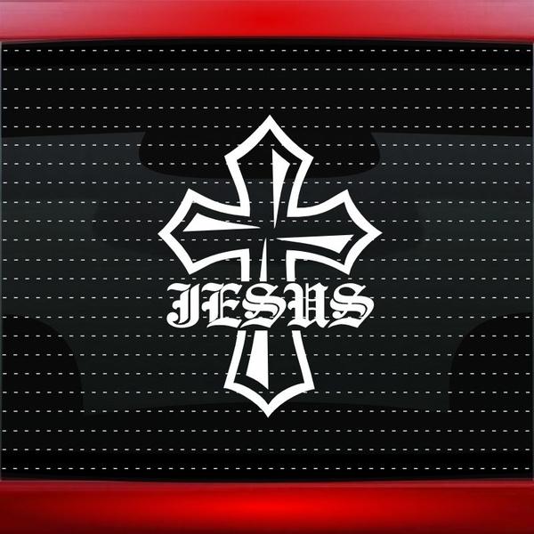 Jesus Cross 1 Christian Car Decal Truck Window Vinyl Sticker