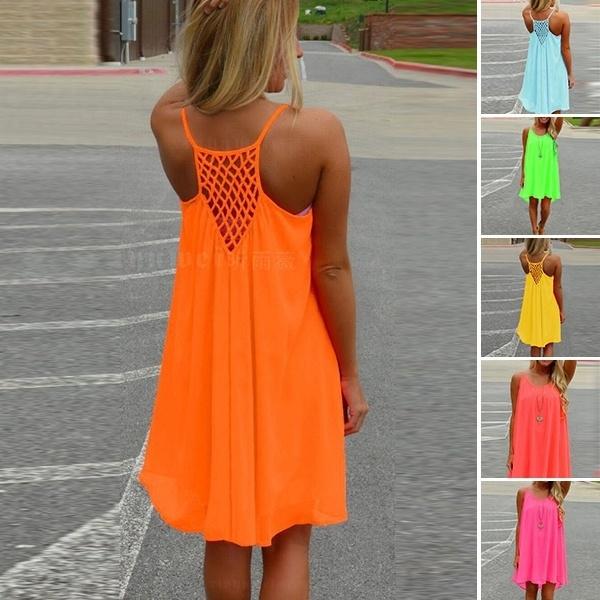 Summer, womens dresses, Mini, Patchwork