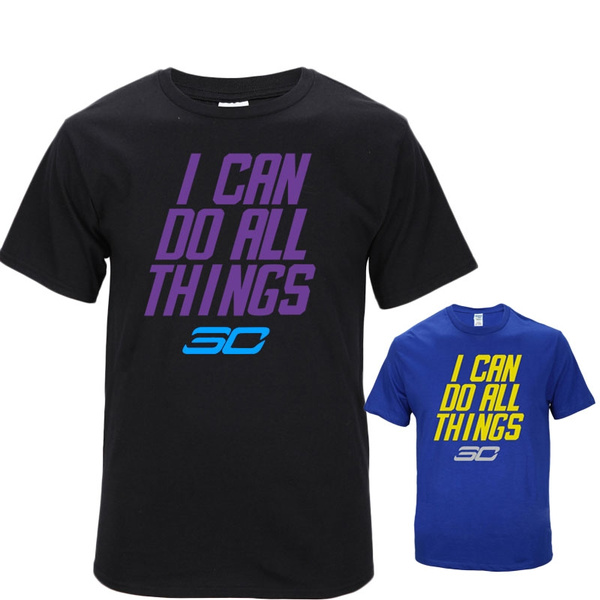 best cheap 0f9c2 e50ba Stephen Curry I Can Do All Things T-shirts Basketball Sports Loose T-shirt
