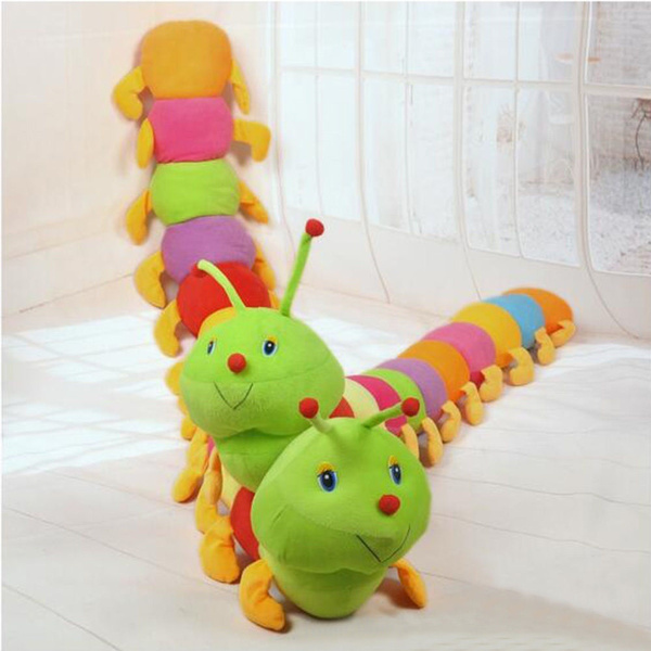 Kids Colorful Inchworm Soft Lovely Toys for Caterpillar hold pillow Toys