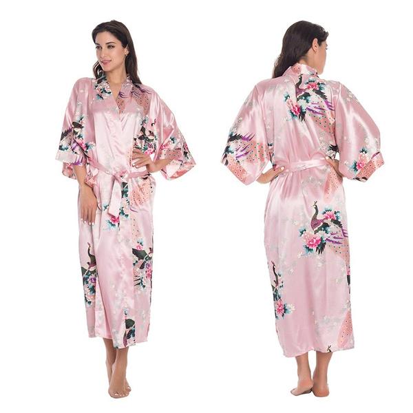 Wish | Silk Satin Kimono Robe Dressing Gown Wedding Bridesmaid ...