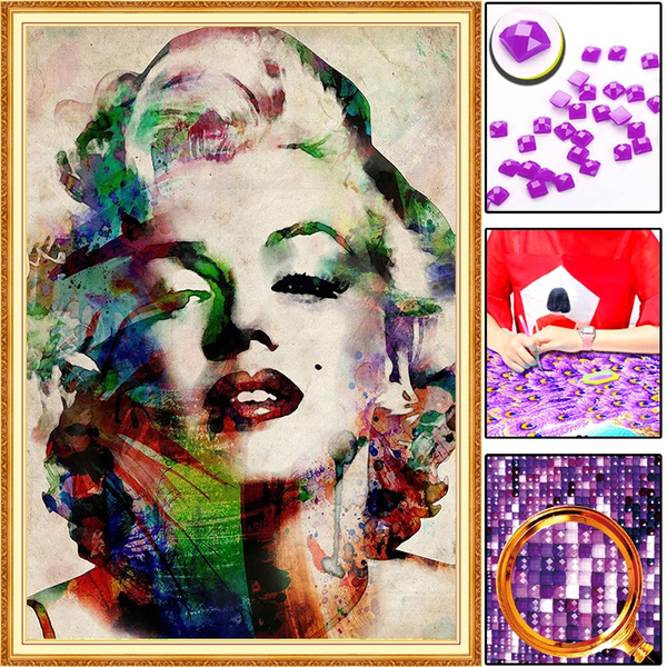 Full Drill DIY 5D Monroe Diamond Painting Home Decors Embroidery Kits Gift Craft