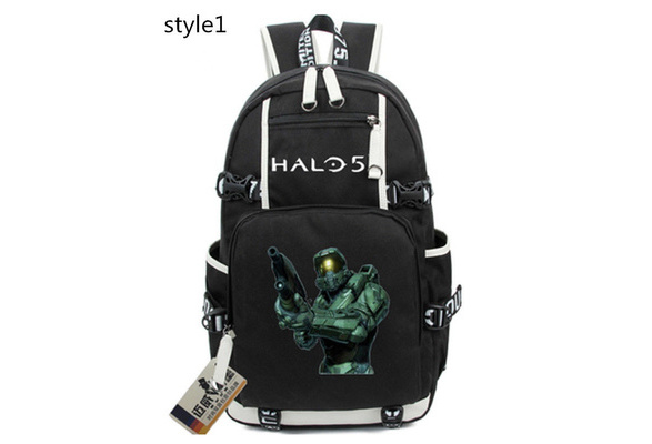 The Art of Halo 5 Guardians Schoolbag Backpack Canvas Shoulder Students Bag Boys