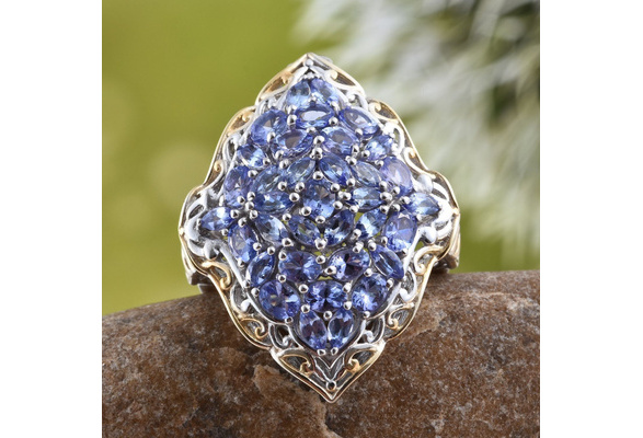 3.28CT Blue Tanzanite Gemstone Engagement Ring Wedding Bridal Set 925 Sterling Silver Gifts Jewelry