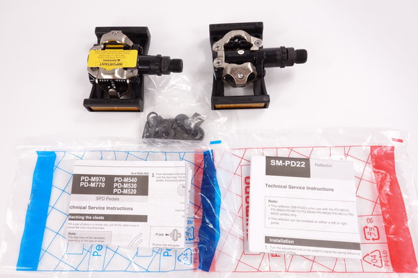 SHIMANO PD-M520 MTB Mountain Bike Clipless Pedals With SPD Cleats SM-PD22