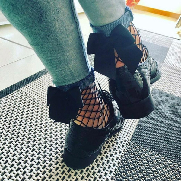 Fashion Womens Ruffle Fishnet Ankle High Socks Mesh Lace Fish Net Short Socks