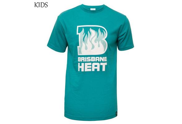 New Brisbane Heat Child Logo Fashion Jersey T Shirt Brisbane Heat Cotone Green Kids T Shirt Size 16 28 Wish