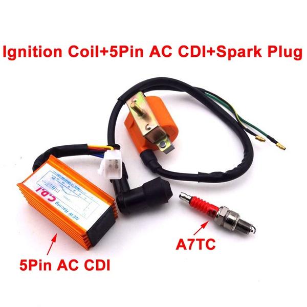 ATV Quad Ignition Coil CDI Spark Plug For Pit Dirt Bike 50 70 90cc 110cc 125cc