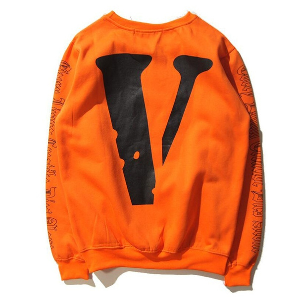 11c536f3 Women/Men VLONE X OFF WHITE VIRGIL ABLOH A$AP ROCKY Orange Long Sleeve Los  Angeles Printing V Round Neck Sweatshirt Hoodies Jumper | Wish