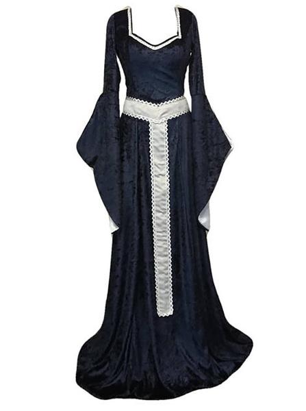 Wish 3 Color Cosplay Vintage Celtic Dress Renaissance Dress With