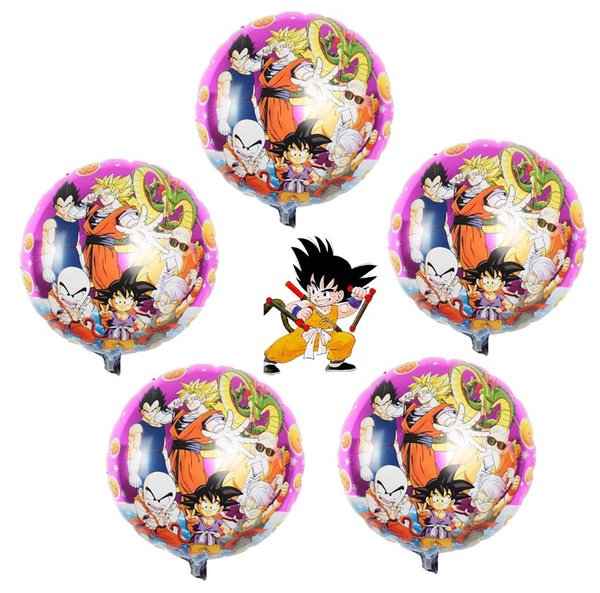 5pcs Lot Son Goku Kakarotto Decoration Dragon Ball Z Birthday Party Balloon Anime Super Saiyan For Globos Boys Toys