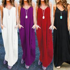 Summer, strappy, long dress, Dress