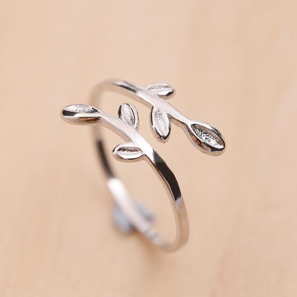 Sterling, adjustablering, leaf, Jewelry
