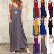 Plus Size, Necks, long dress, Dress