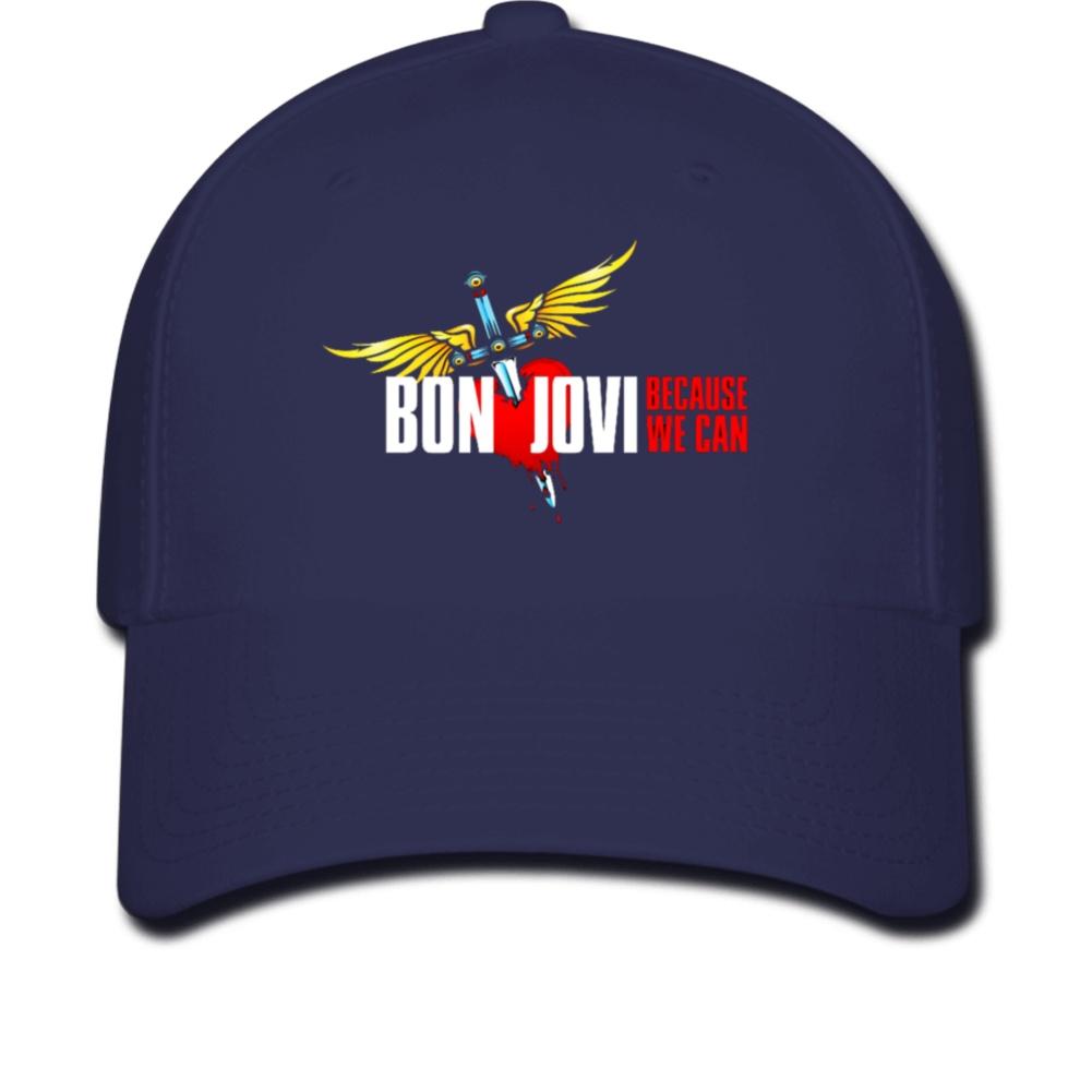 f7e6d4c26bf United Excellent Heart Bon Jovi Unisex Cotton Cap Adjustable Plain ...