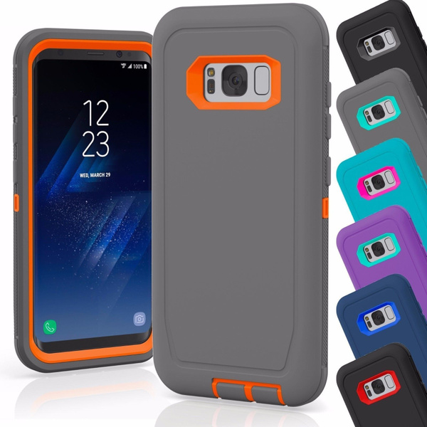 low priced 4c617 fa6ea [DEFENDER CASE] Built-in Screen Protector Tough 3 In1 Rugged Shorkproof  Water-Resistance Cover for Samsung Galaxy Note 8 S8 S8 Plus S7 S7edge S6 S5  ...