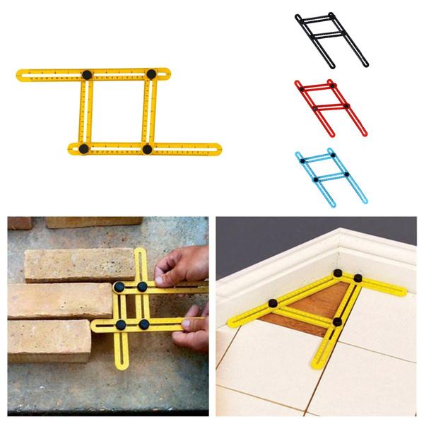 Angle-izer Four-Sided Ruler Mechanism Slide Template Tool Measuring Instrument