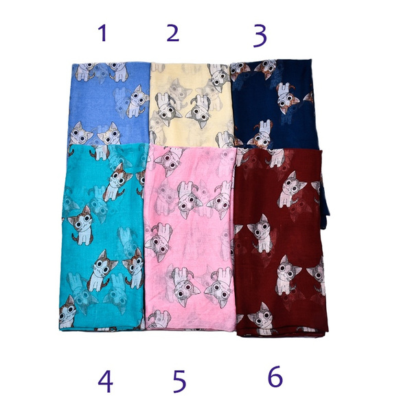 d9b9085057f58 Female Mini Chi's Sweet Home Cat Printed Scarf Cute Carton Figure ...