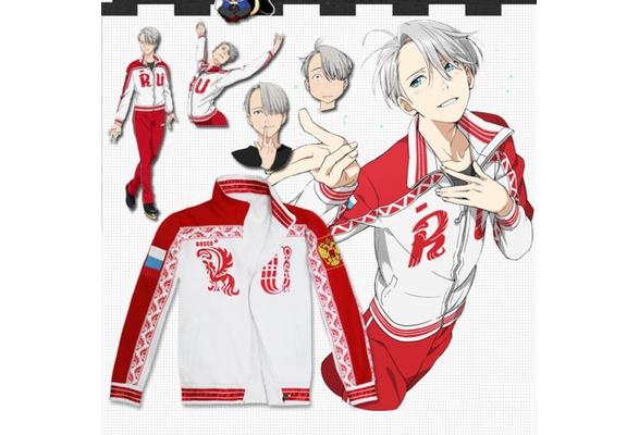 YURI on ICE Victor Nikiforov Sportwear Jacket Coats Cosplay Viktor Sweatshirt