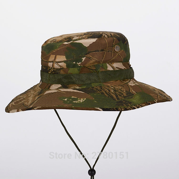 9ee53342 Military Camouflage Bucket Hats Jungle Camo Fisherman Hat with Wide ...