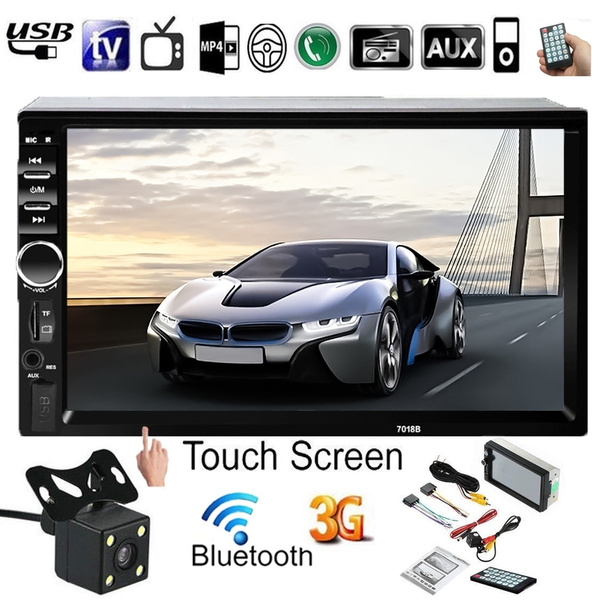 "1080P Bluetooth Car Stereo Radio 2 DIN 7/"" HD MP5 FM Touch Player Remote Control"