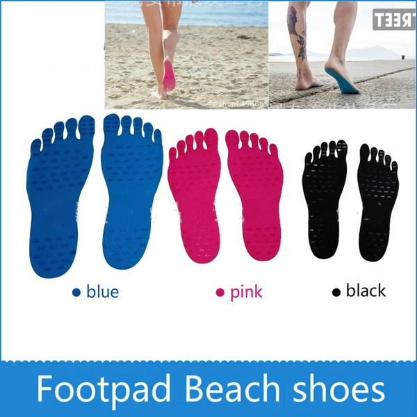 Nakefit Stick on Foot Pads Beach Shoes