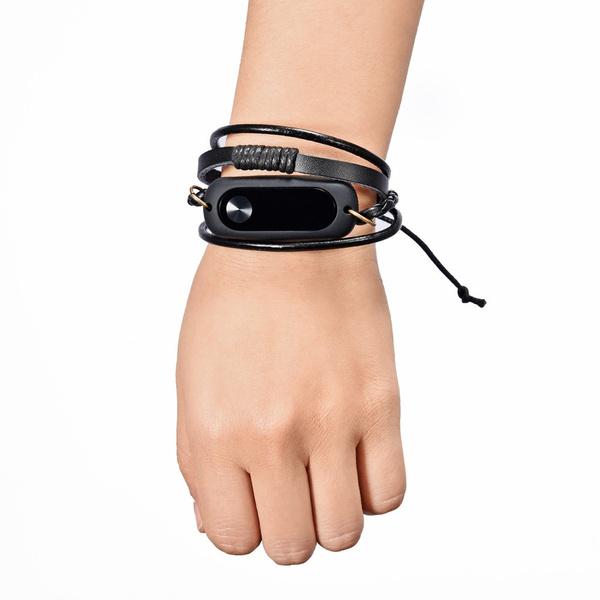 Metal Smart Wristband Wrist Strap Band Bracelet Replacement For Xiaomi Mi Band 2