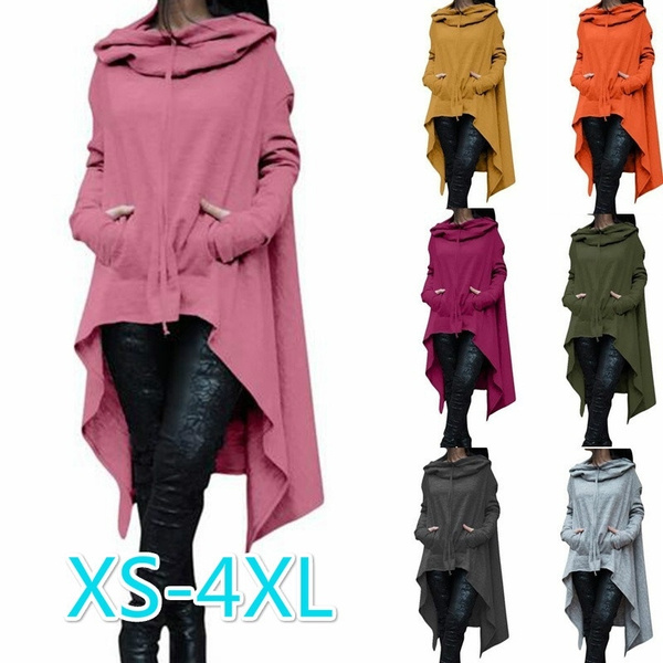 Plus Size, hooded, Irregular, Sports & Outdoors