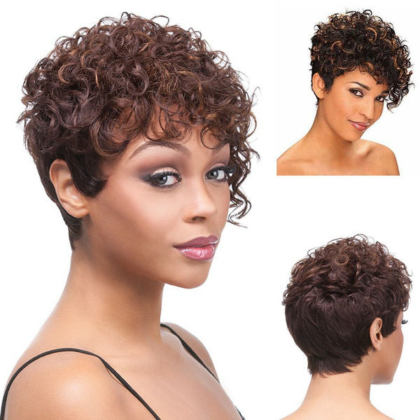 Afro Kinky Curly Wigs for Women Stylish Short