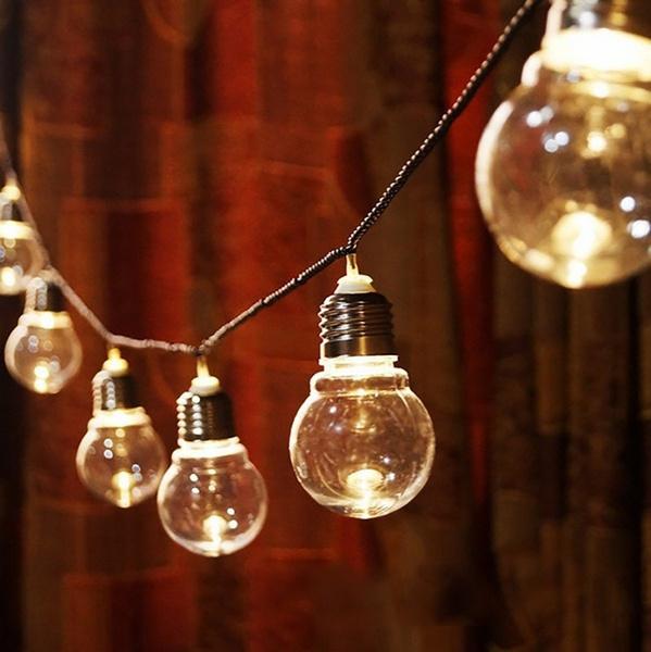 Festoon Party Fairy String Lights 110v 220v Us Eu Plug Globe Patio String Light 6m 20 Led G45 Globe Outdoor String Light