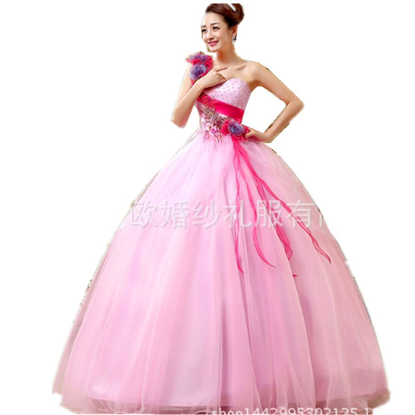 Vestidos De Quinceañera Rosa Vestidos De 15 Años Un Hombro Vestidos Para 15 Años Vestidos Para Fiesta