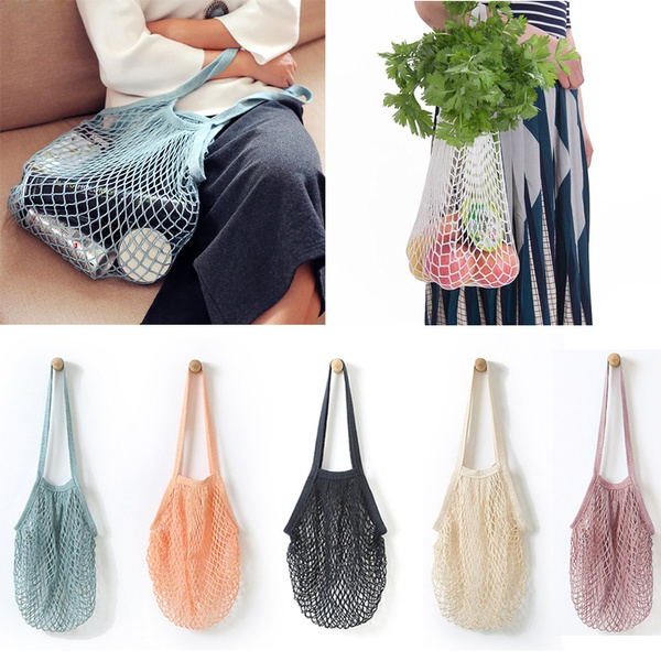 Mesh Net Turtle Bag String Shopping Bag Reusable Fruit Storage Handbag Totes Hot