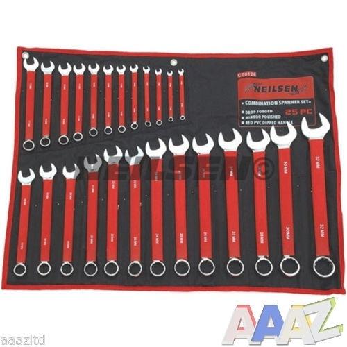 Neilsen 25pc Combination Metric Combo Spanner Set 6mm-32mm Garage Tool