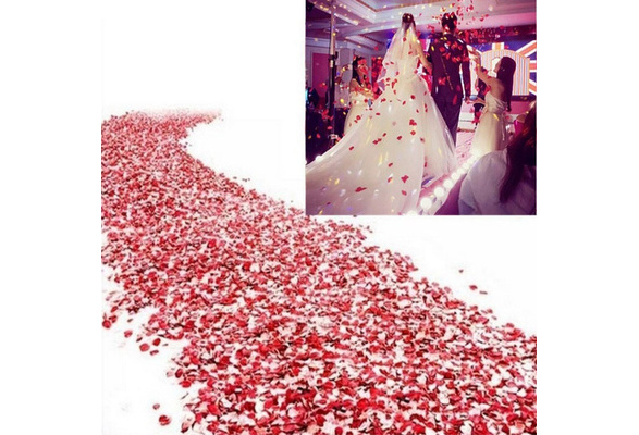 500pcs Silk Rose Flower Petals for Wedding Party Table Decorations