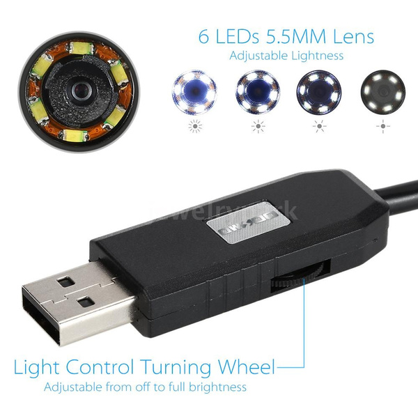 Wish   ROMACCI OWSOO 6 LED 5.5MM Lens Endoscope IP67 Waterproof ...